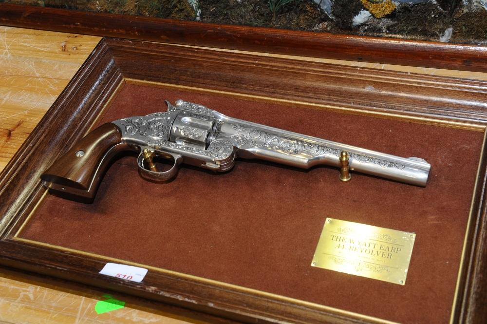 Replica pistol  Mounted Franklin Mint replica of