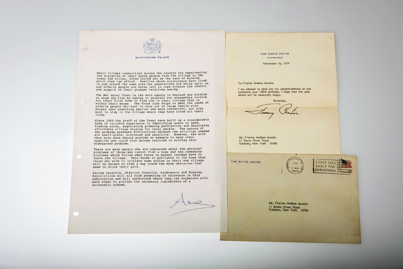 lot 292 a signed letter of congratulations for a 100th birthday from president jimmy carter