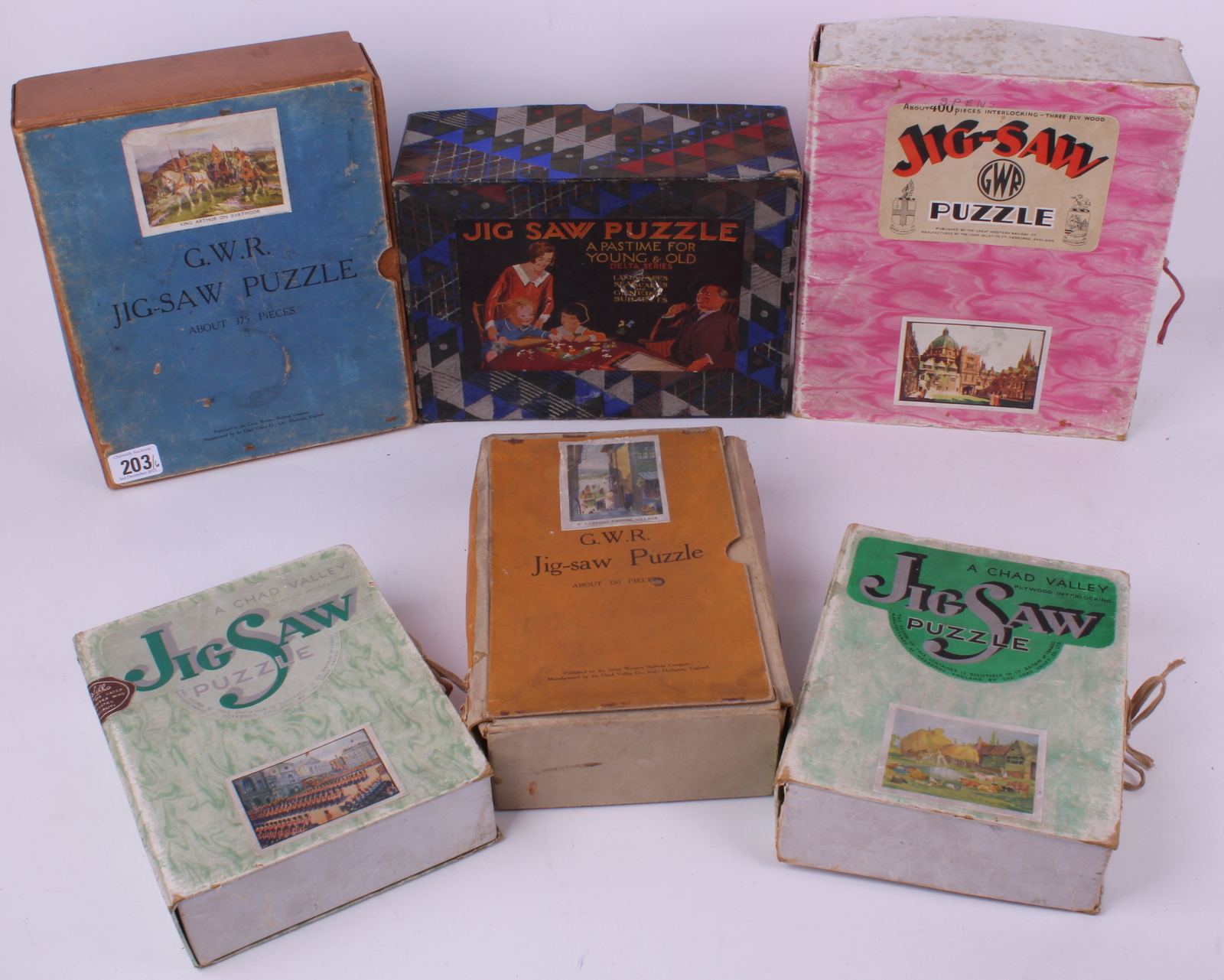 Chad Valley boxed wooden jigsaw puzzles