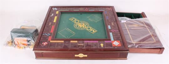 A Limited Edition Deluxe Monopoly Game The Board Is A Wooden