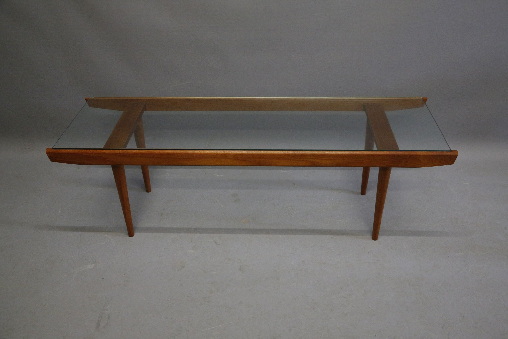 Amazing Lot 39   A 1960s Scandinavian Coffee Table With Glass Top And Teak Frame  (137cm