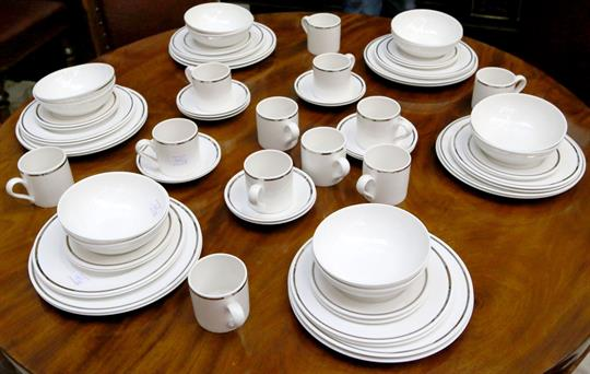 Auction date & A Wedgwood bone china complete dinner and tea service for twelve ...