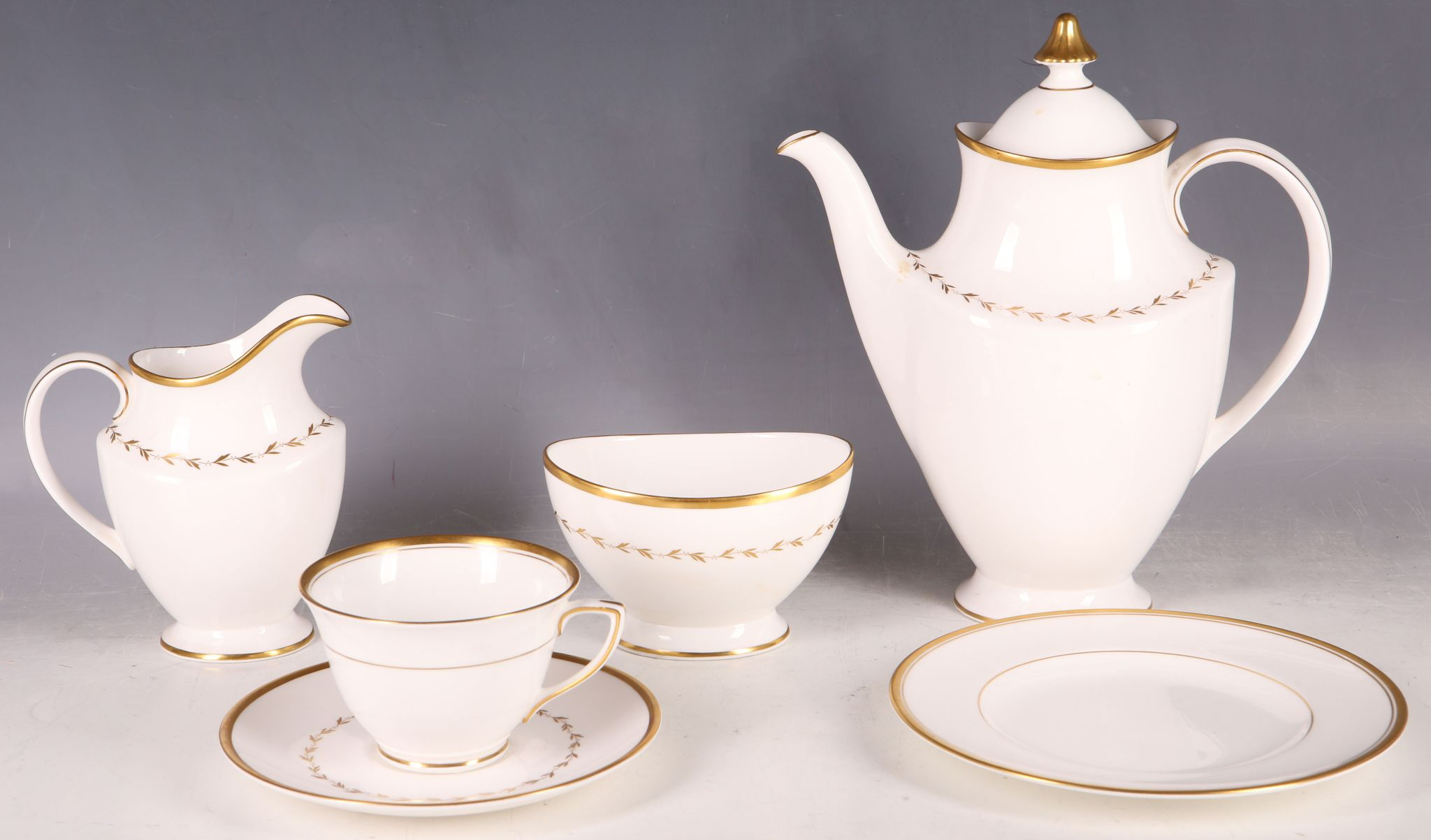 a royal doulton bone china tea service for twelve in covington pattern h4966 to include tea. Black Bedroom Furniture Sets. Home Design Ideas
