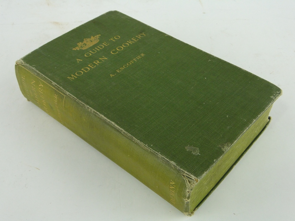 A Escoffier A Guide To Modern Cookery Signed By The Author And Dated 1907 First Edition