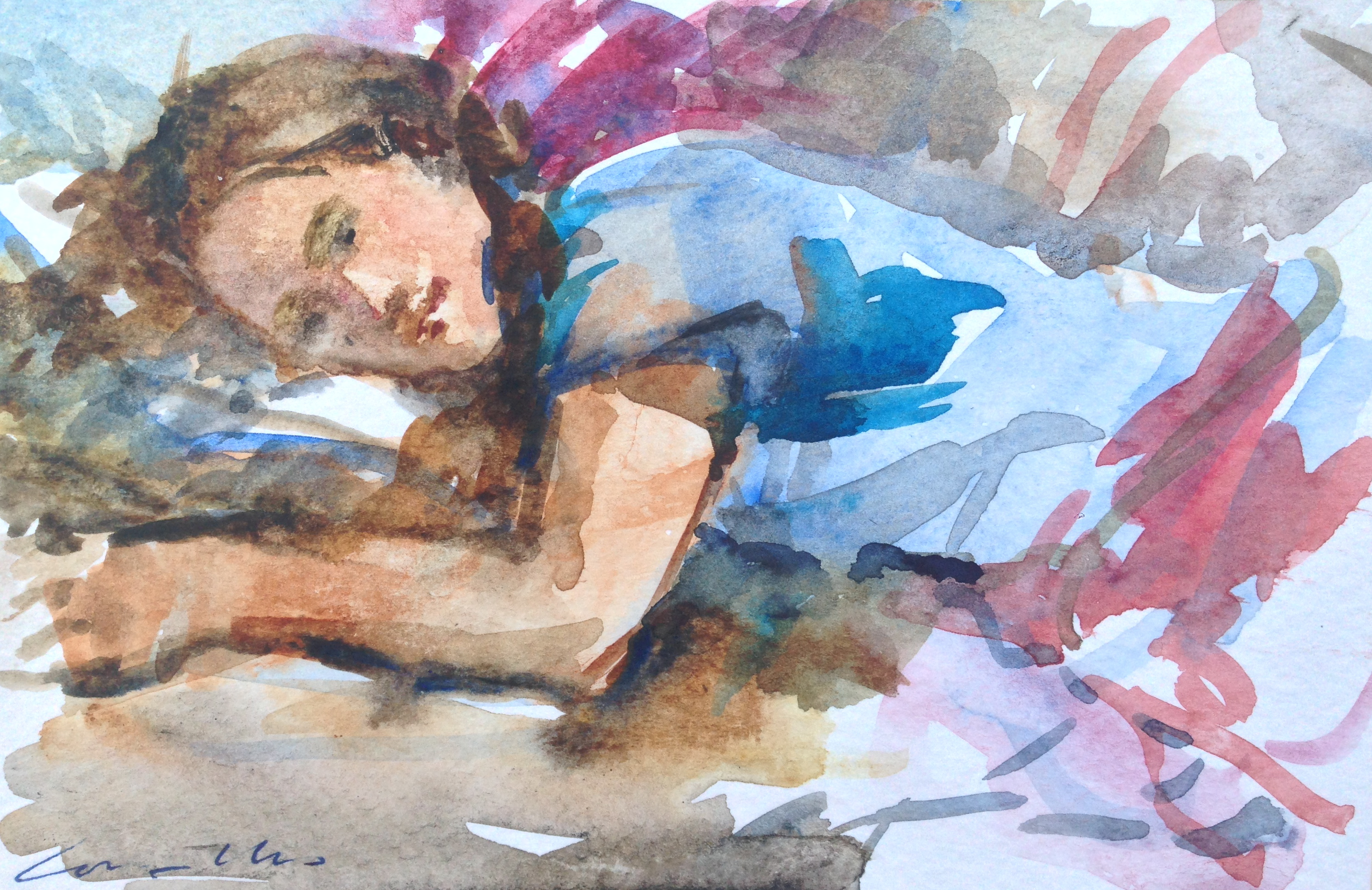 Lot 13 - Jane Corsellis N.E.A.C Selena resting & (dreaming) signed; inscribed with title on the reverse