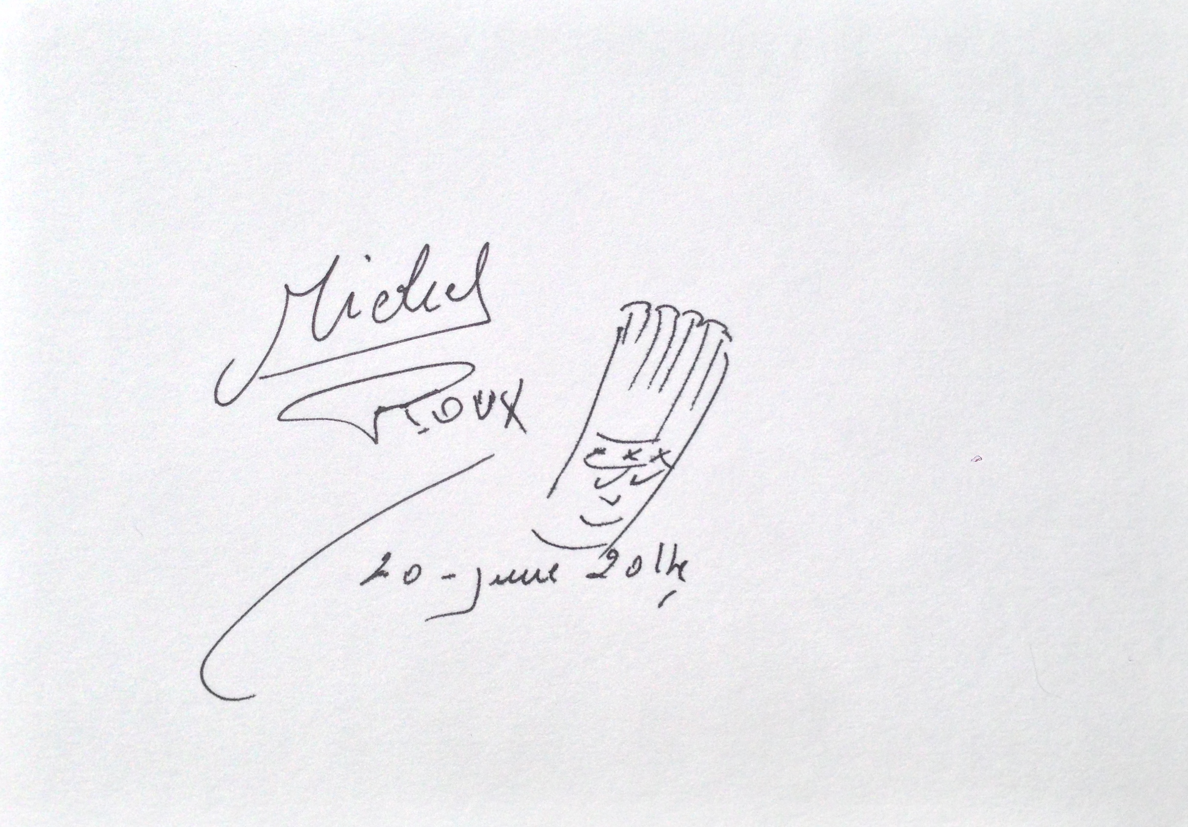 Lot 22 - Michel Roux Snr Untitled sketch, signed, pen and ink on paper Dated 20 June 2014 12 x 17cm.