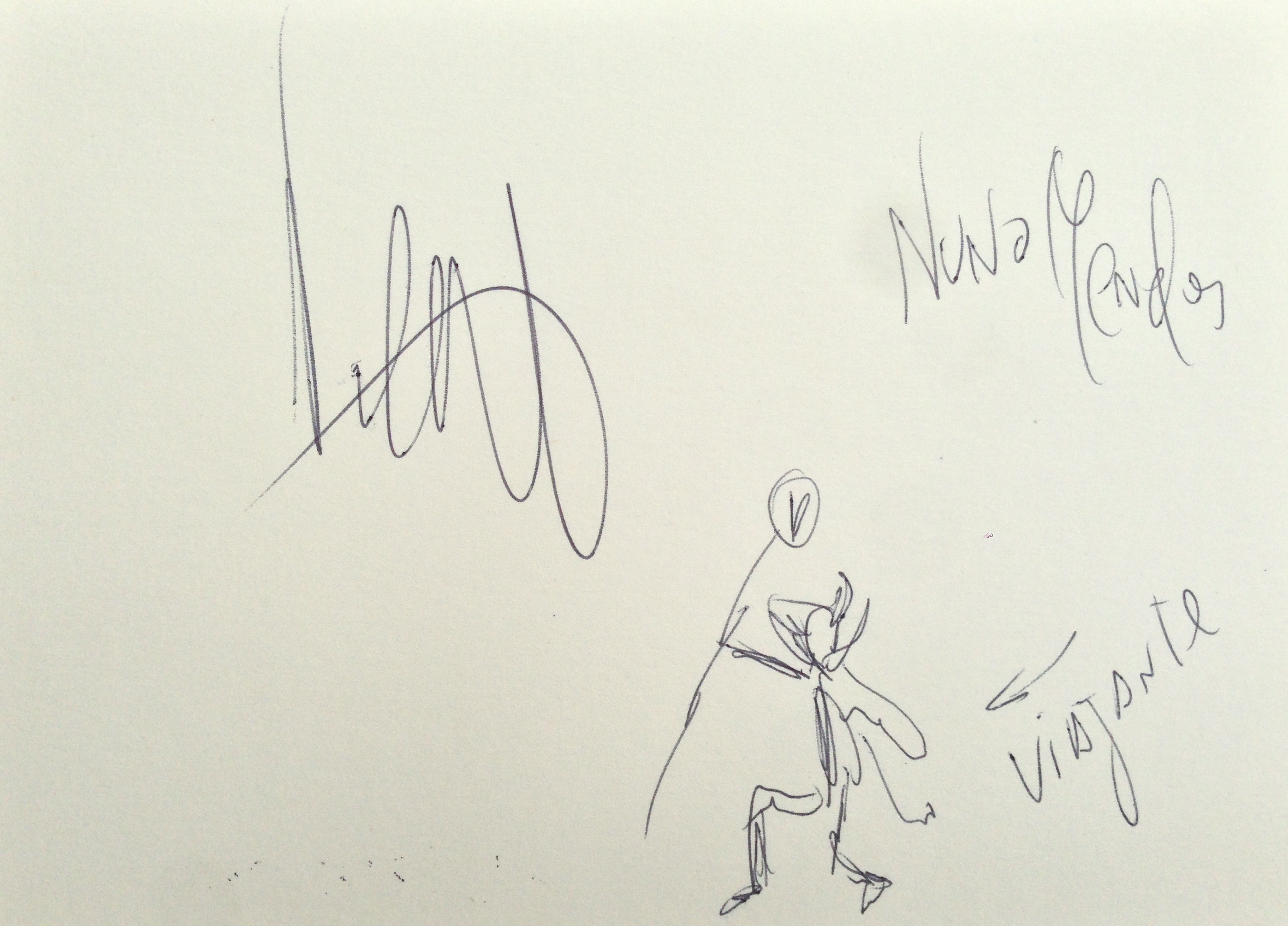 Lot 25 - Nuno Mendez Chef at the Chiltern Firehouse Emblem from the Viajante restuarant signed and inscribed