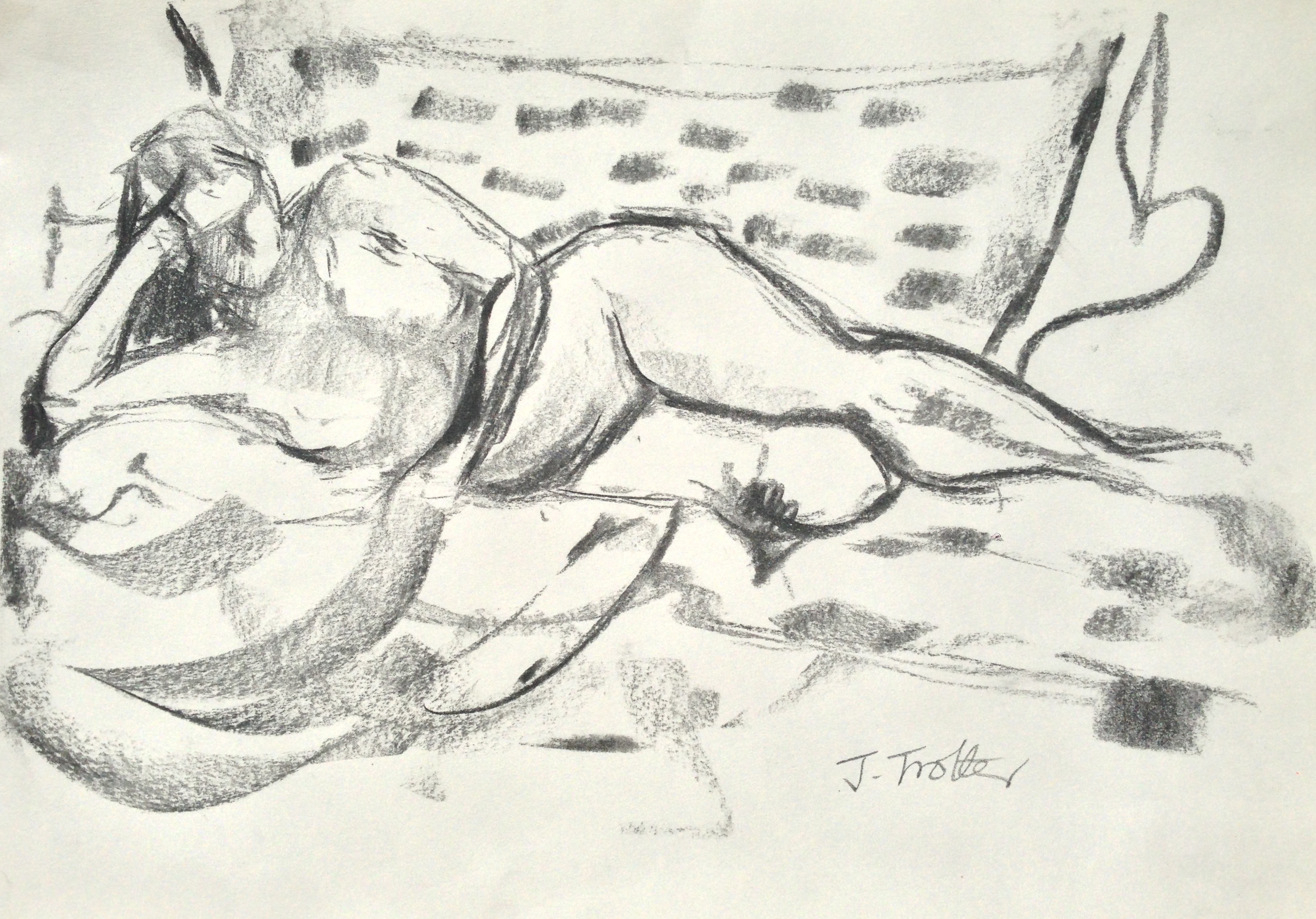 Lot 44 - Josephine Trotter Untitled Charcoal on paper Executed in 2013. 25.5 x 40cm. English contemporary