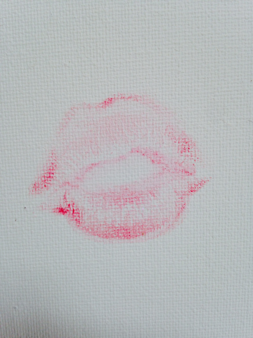 Lot 58 - Kate Moss Kate's Kiss Lipstick on paper.  Executed 2014.