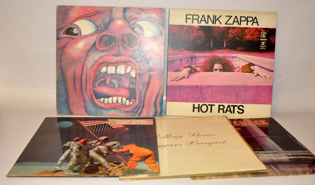 Lot 1 - QUANTITY OF L.P. RECORDS: FRANK ZAPPA - HUT RATS; JOAN MAYALL - LOOKING BACK; GREENSLADE - BEDSIDE