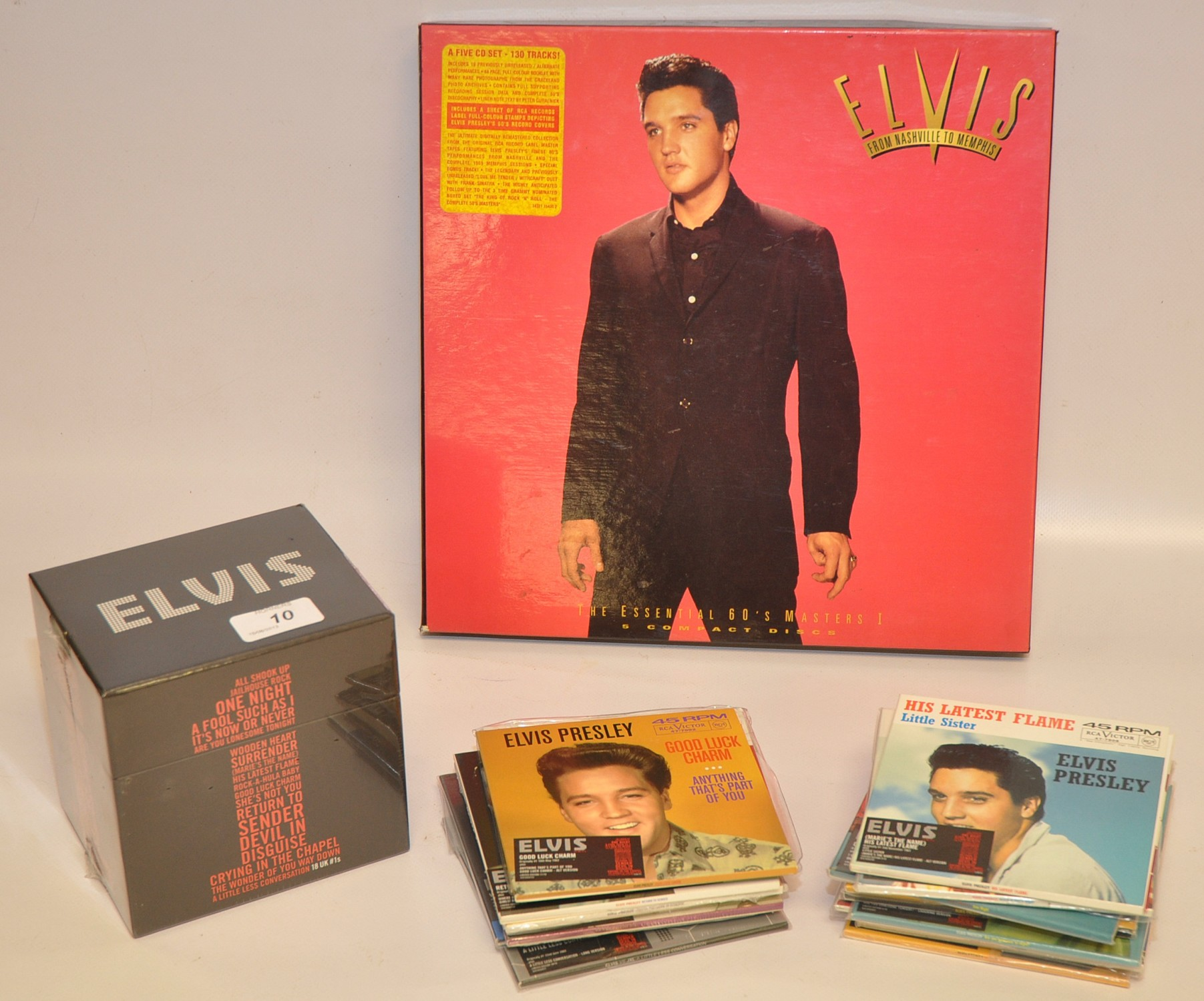 Lot 10 - ELVIS LIMITED EDITION UK SINGLES BOX SET. 18 X CD SINGLES.  ONE IN UNOPENED SHRINK WRAPPED BOX -