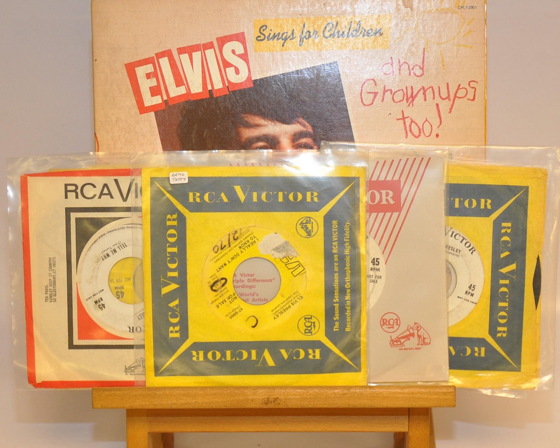 Lot 19 - QUANTITY OF  ELVIS PROMO DISCS