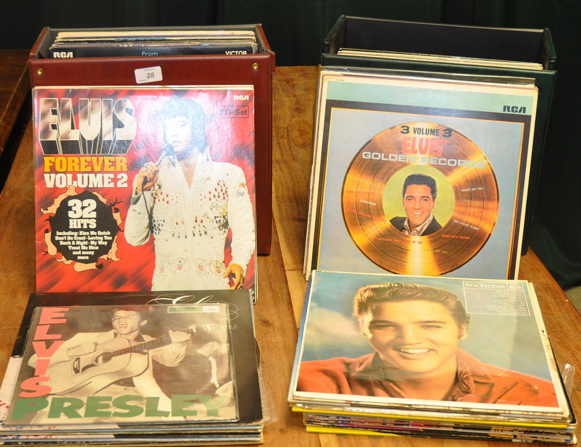 Lot 28 - TWO CASES OF ELVIS LPS