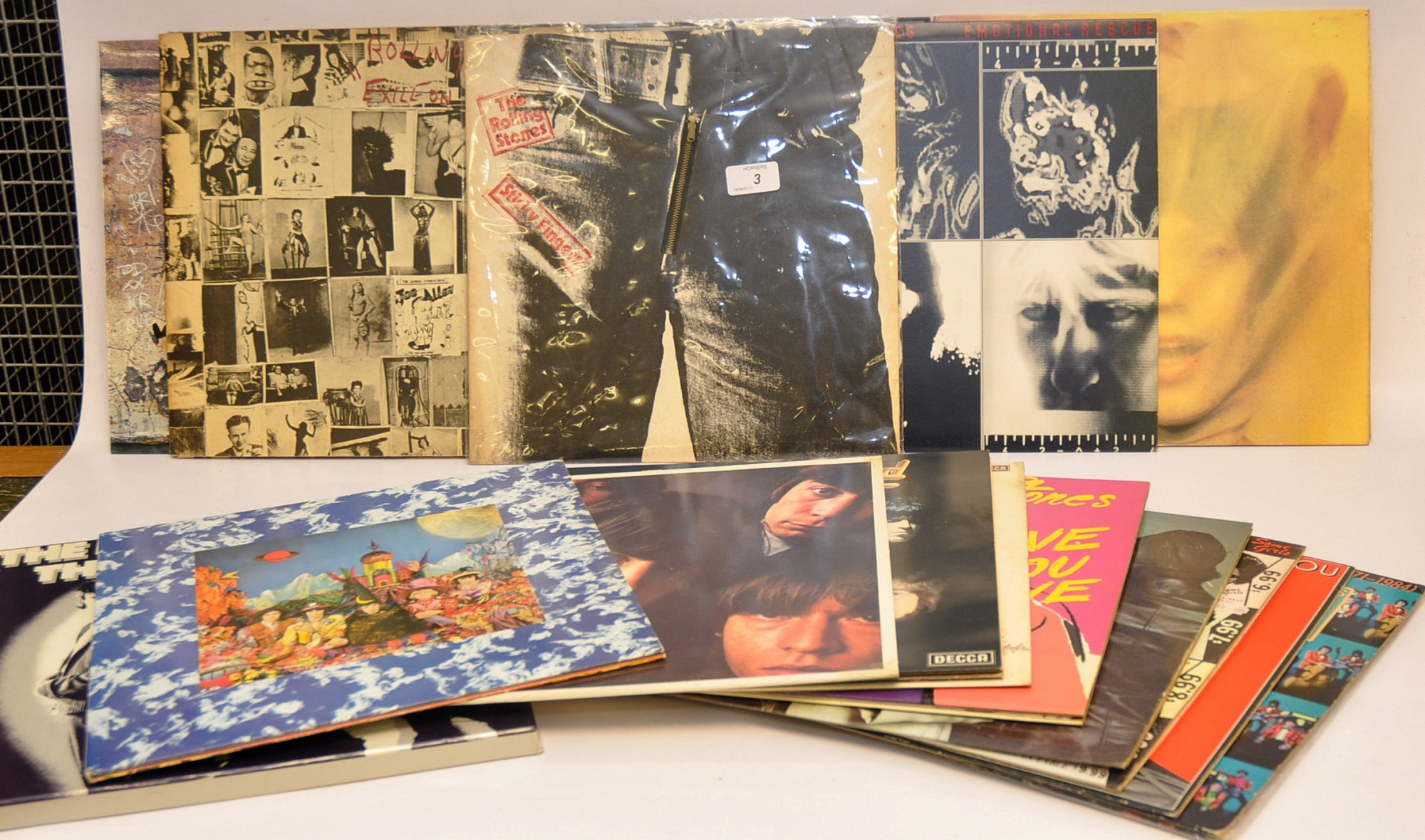 Lot 3 - QUANTITY ROLLING STONES LPS INCLUDING `THE GREAT YEARS` BOX SET AND `STICKY FINGERS` WITH ZIP