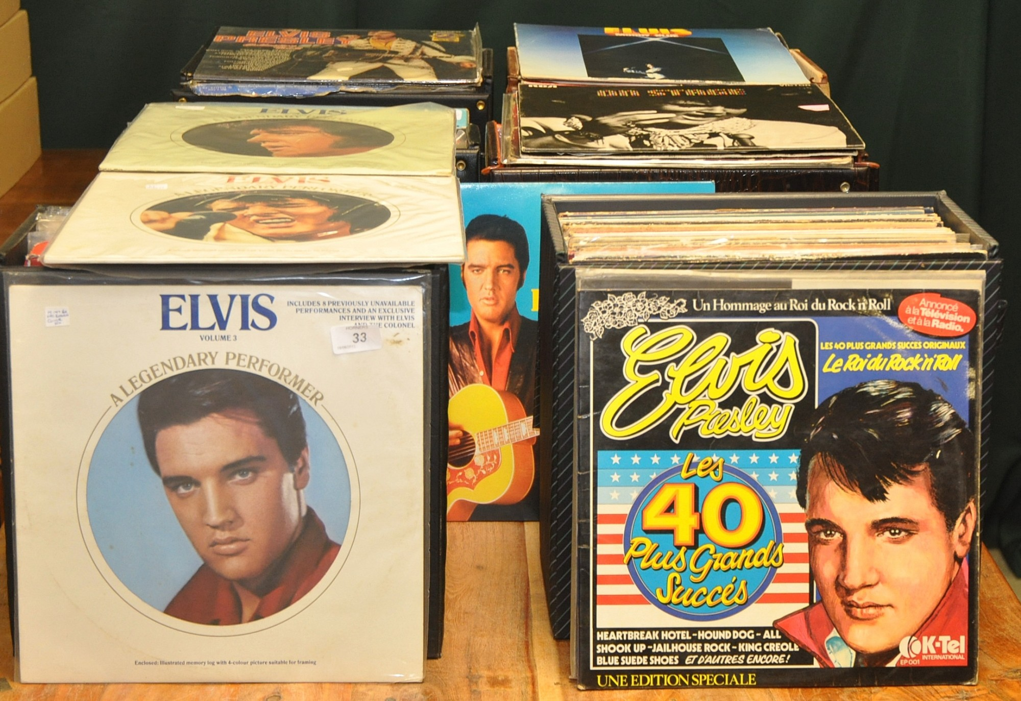 Lot 33 - SIX CASES OF ELVIS LPS