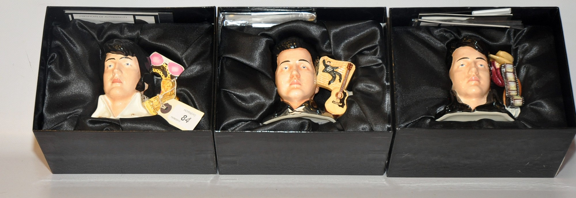 Lot 84 - THREE BOXED ROYAL DOULTON ELVIS SIGNATURE CHARACTER JUGS EP16, EP14, EP15 - TO COMMEMORATE 30
