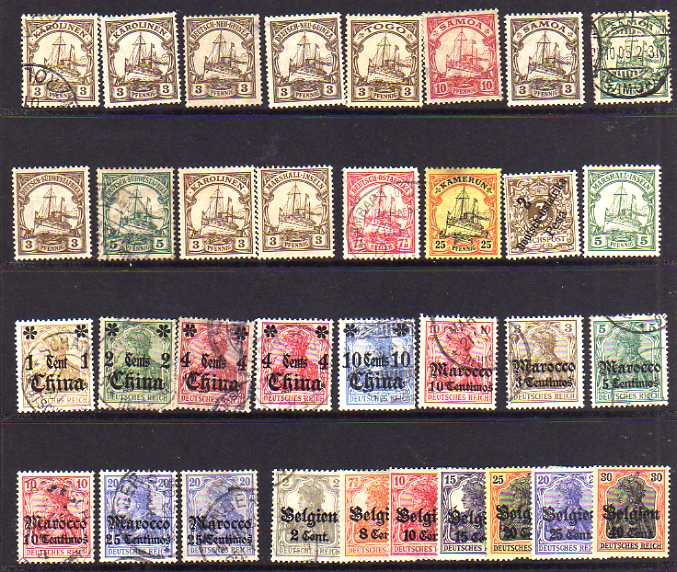 Lot 11 - BOX OF ALL WORLD ON LEAVES, MALAYA, GERMAN COLONIES, JAPAN, 1937 CORONATION SETS MINT ETC. (100`S)