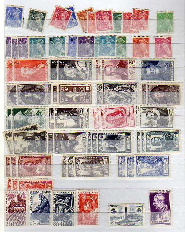 Lot 13 - LARGE BOX WITH ALL WORLD ACCUMULATION, FRANCE, GERMANY ON LEAVES, GB ETC. (MANY 1000`S)
