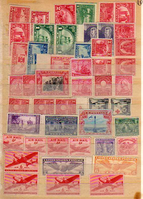 Lot 15 - SMALL BOX WITH FOREIGN ON STOCKCARDS AND LOOSE, U.S.A., GERMANY, AUSTRIA ETC. (100`S)