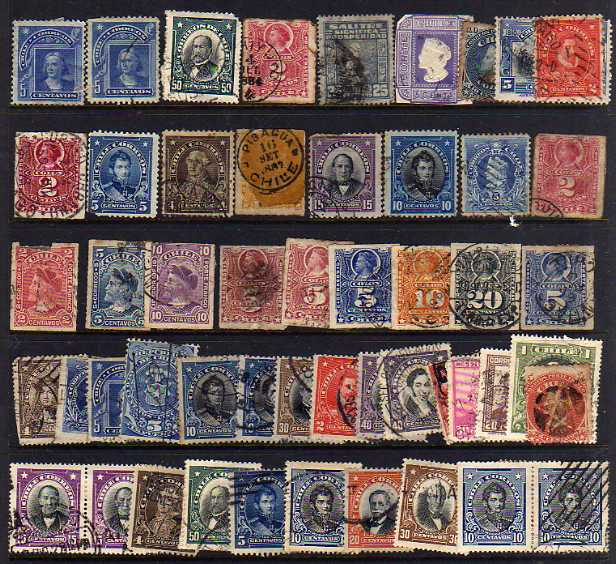 Lot 18 - LATIN AMERICA COLLECTIONS IN ALBUM AND FIVE STOCKBOOKS, CHILE, PHILIPINES, EL SALVADOR, ETC. (100`