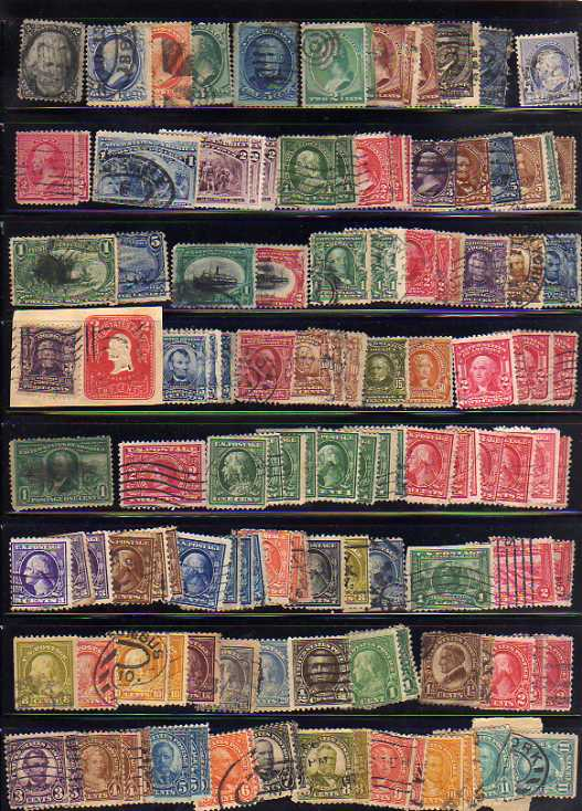 Lot 32 - BOX OF FOREIGN IN SIX STOCKBOOKS, NEATLEY ARRANGED ALPHABETICALLY, MUCH U.S.A. (1000`S)