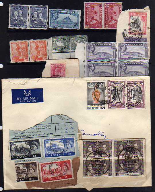 Lot 34 - BOX WITH LOOSE CIRCA 1950`S-60`S ACCUMULATION, ON AND OFF PAPER, COVERS, GB, IRELAND, MALTA,
