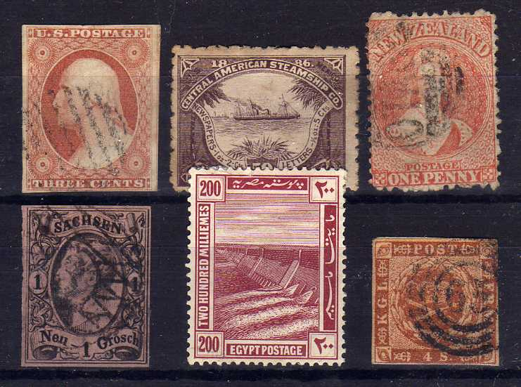 Lot 43 - BOX WITH MODEST GENERAL COLLECTIONS IN THREE ALBUMS AND LOOSE, EGYPT 1914 VALUES TO 200M O.G.
