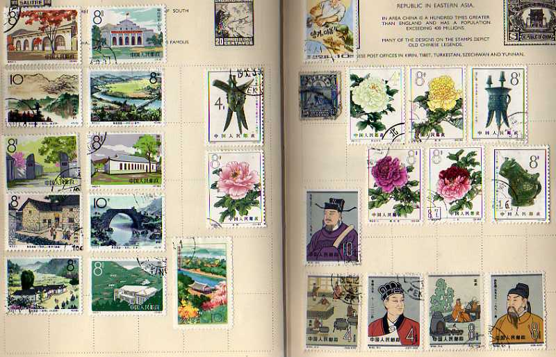 Lot 26 - GENERAL COLLECTIONS IN SIX ALBUMS, GB, SOME COMMONWEALTH, CHINA ETC. (MANY 100'S)