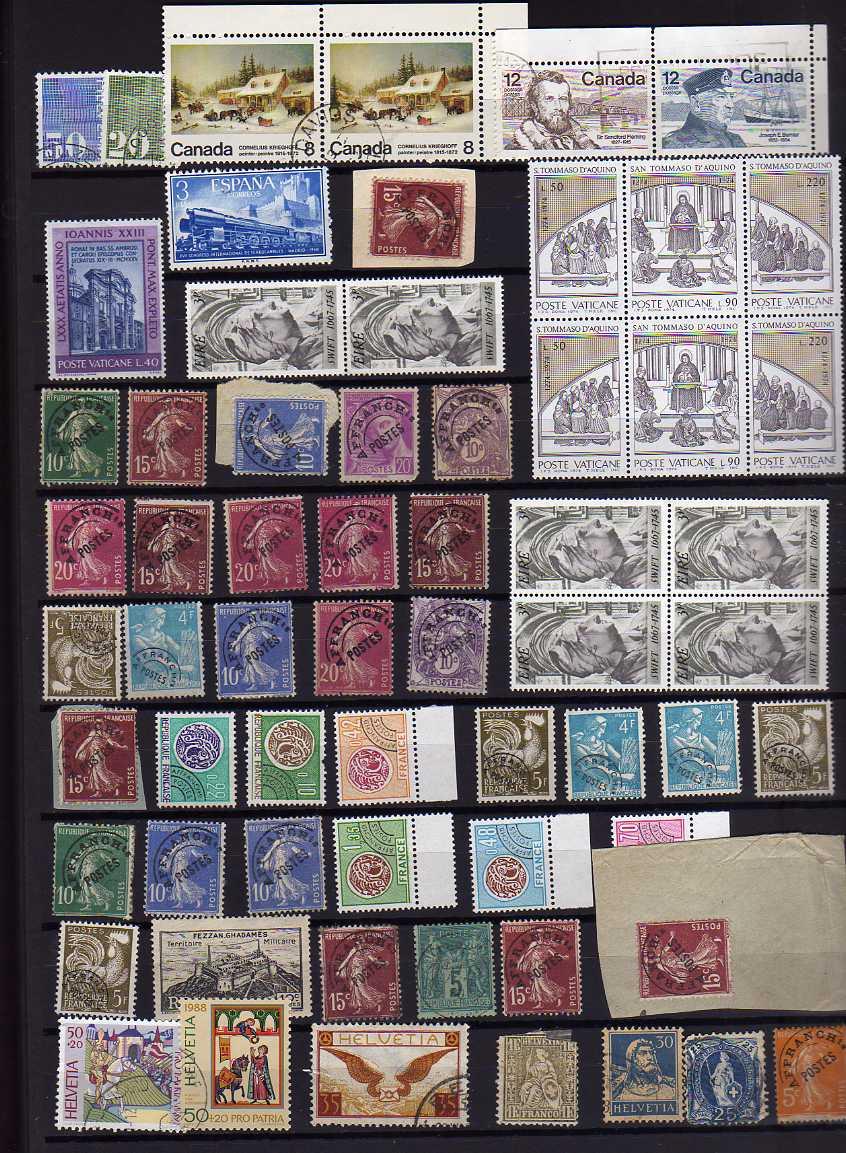 Lot 3 - MIXED LOT IN SEVEN STOCKBOOKS, PAKISTAN, FRANCE, MINT USA, CANADA, AUSTRIA, GB, ETC. (1000'S)