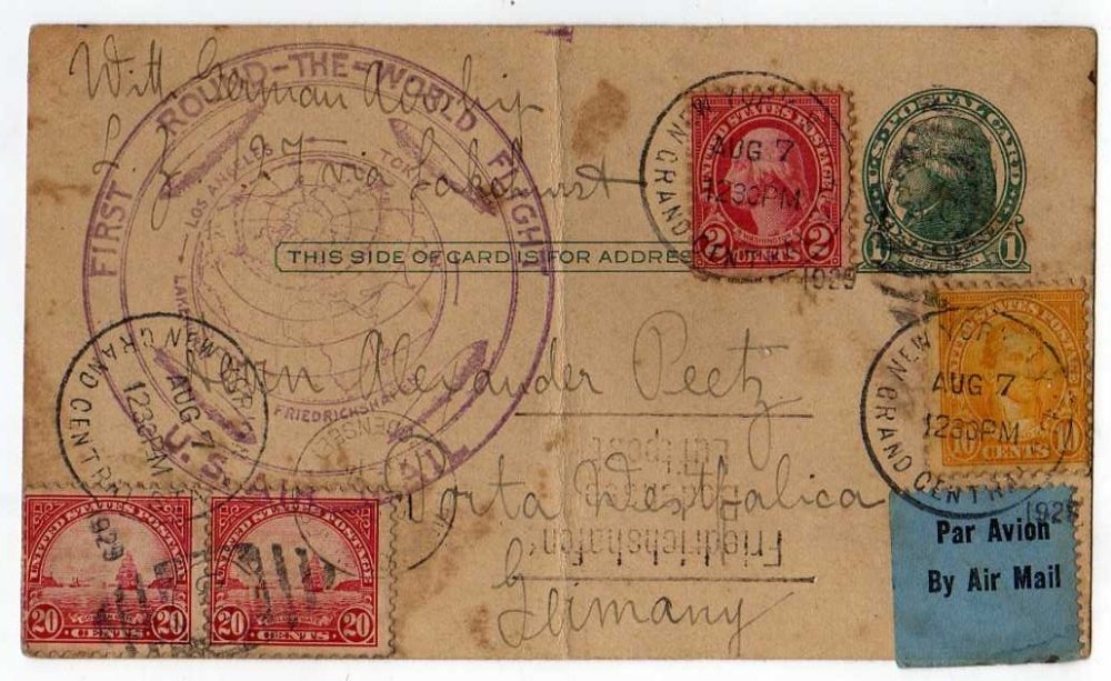 Lot 30 - BOX WITH ALL-WORLD COLLECTION IN FOUR ALBUMS AND LOOSE, GERMANY 1943 FORCES SET USED, USA 1929 ROUND
