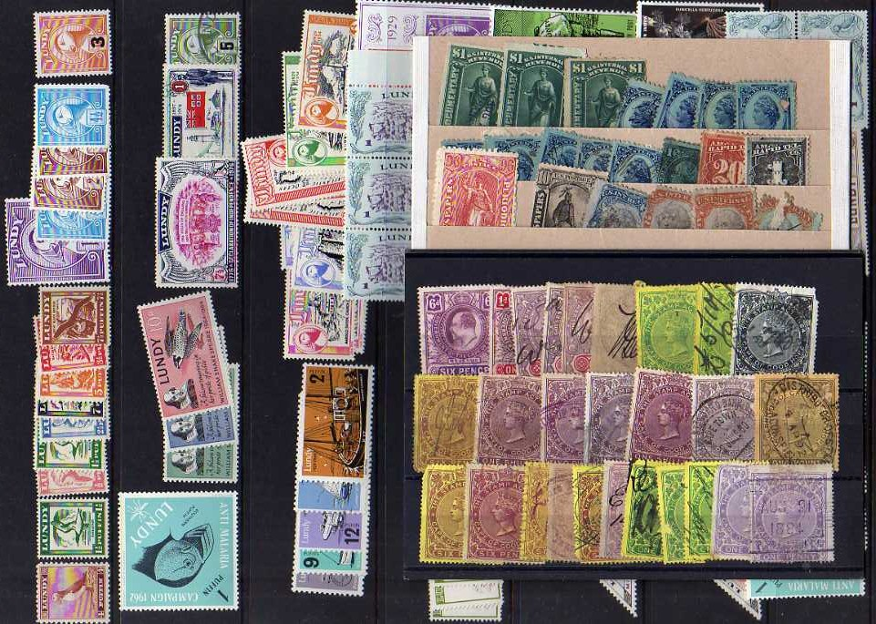 Lot 4 - BOX WITH REVENUES, CINDERELLAS, CHARITY STAMPS, LUNDY, CANADA, MUCH USA BOY'S TOWN ETC. (1000'S)
