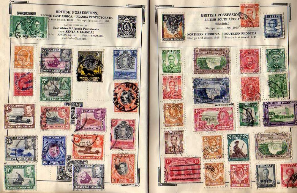 Lot 47 - SG.  IMPROVED ALBUM, WELL FILLED WITH COLLECTION, APPARENTLY UNTOUCHED SINCE 1949 (APPROX 3000)