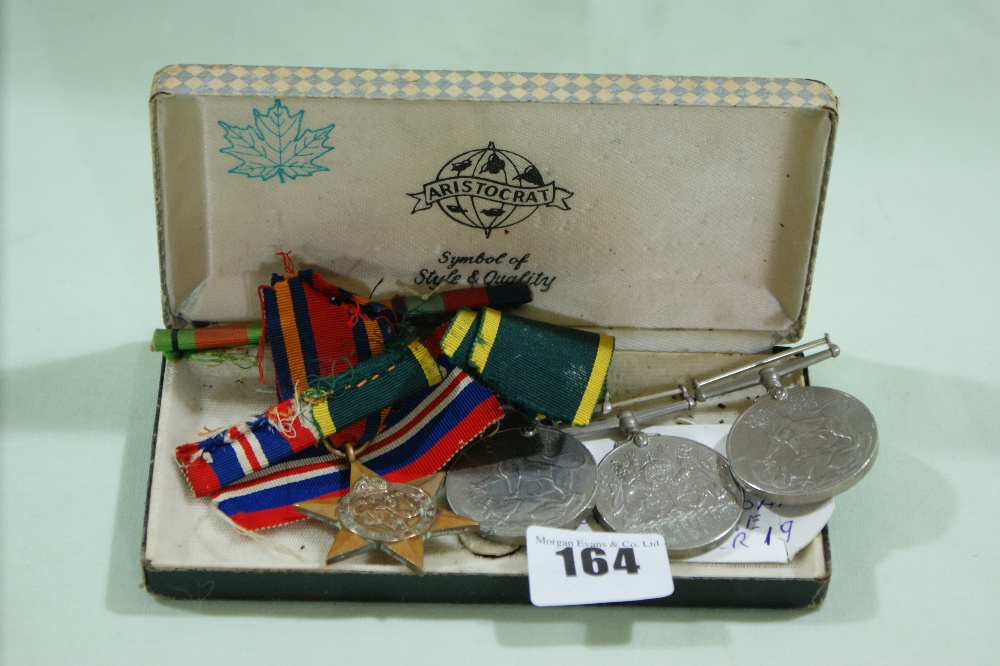 Lot 164 - Three Second World War General Service Medals Together With A Burma Star Medal
