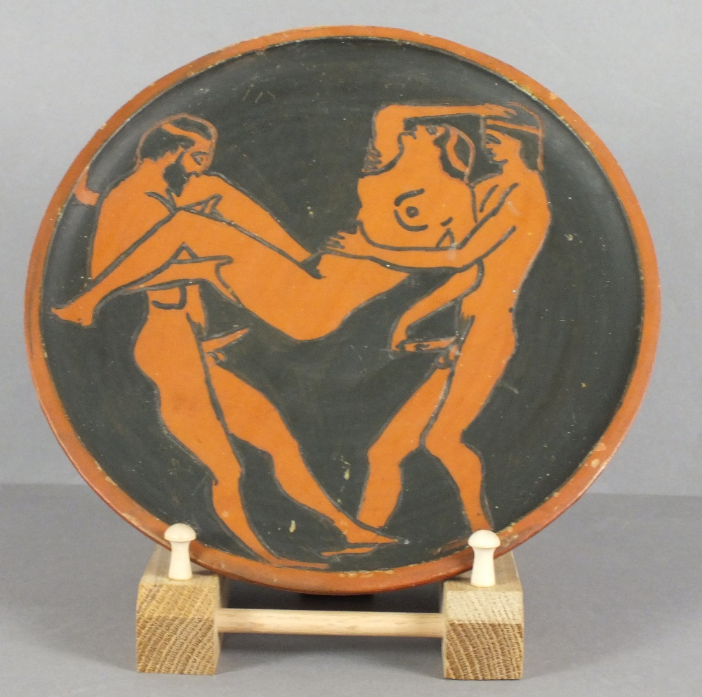 Two Terracotta Hand Thrown Plates By Jess Val Baker With