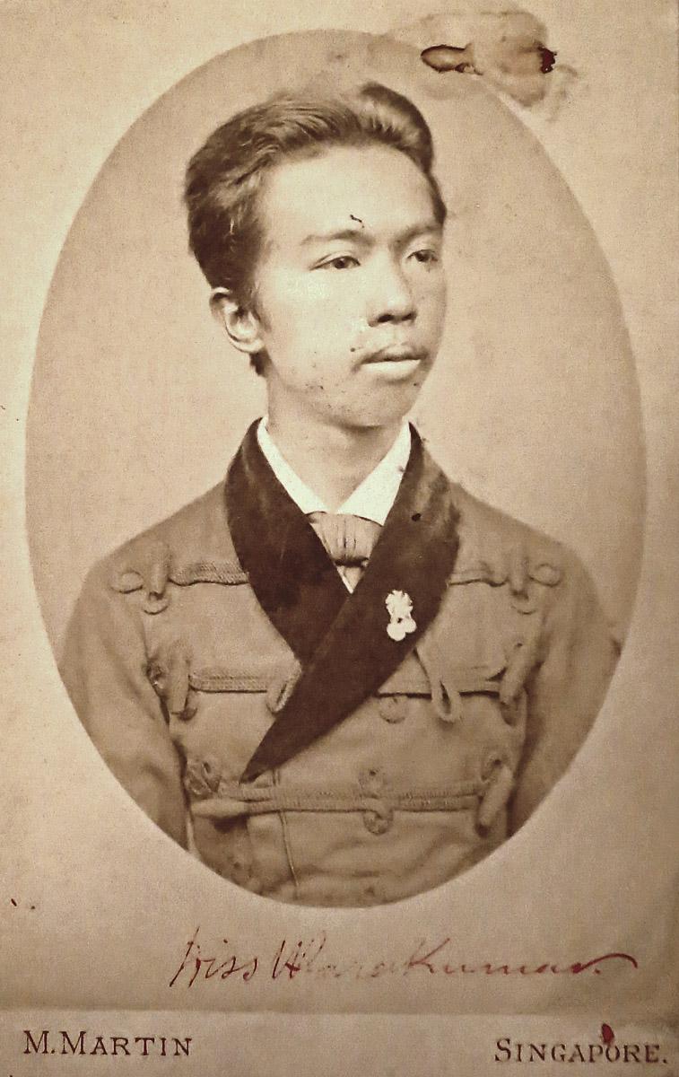 "Thaïlande MARTIN, M. (""Photographer Artist Singapore"").- Portrait de Warakumar, prince de Siam."