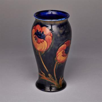 Moorcroft Poppy Vase C1925 Of Wide Mouthed Baluster Shape With
