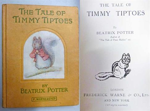 The Tale Of Timmy Tiptoes By Beatrix Potter 1st 1911