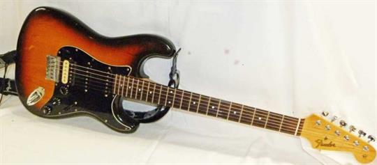 Electric Guitar Labelled Fender Stratocaster In Sunburst Finish