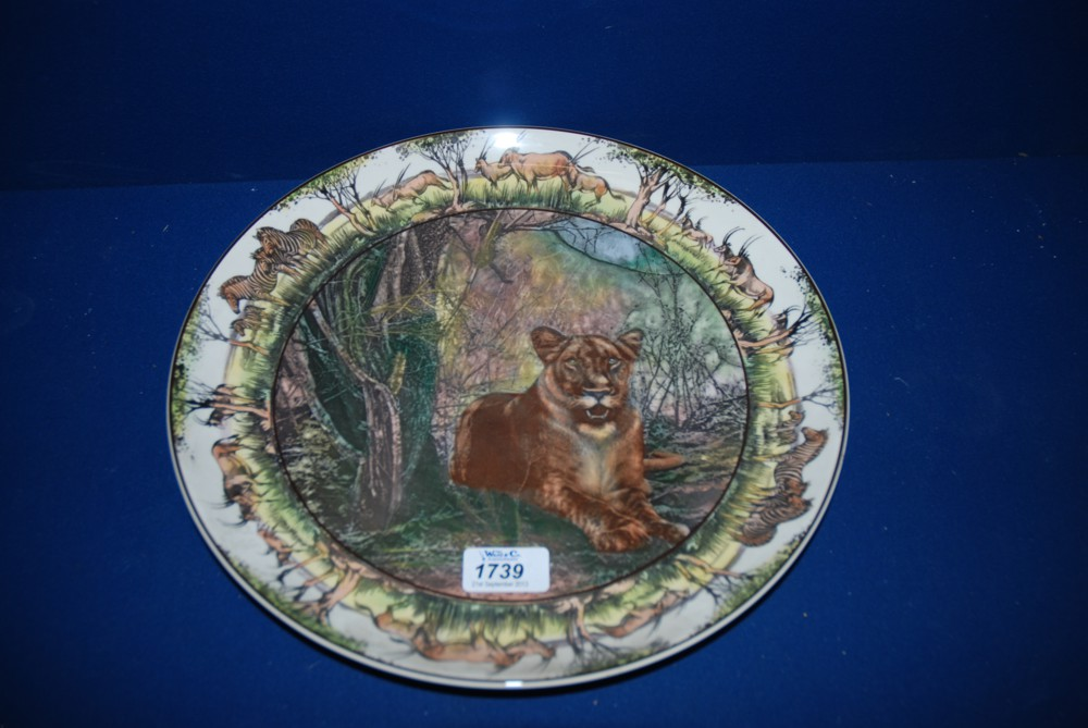 Lot 1739 - A Royal Doulton African series Charger 'Lioness'
