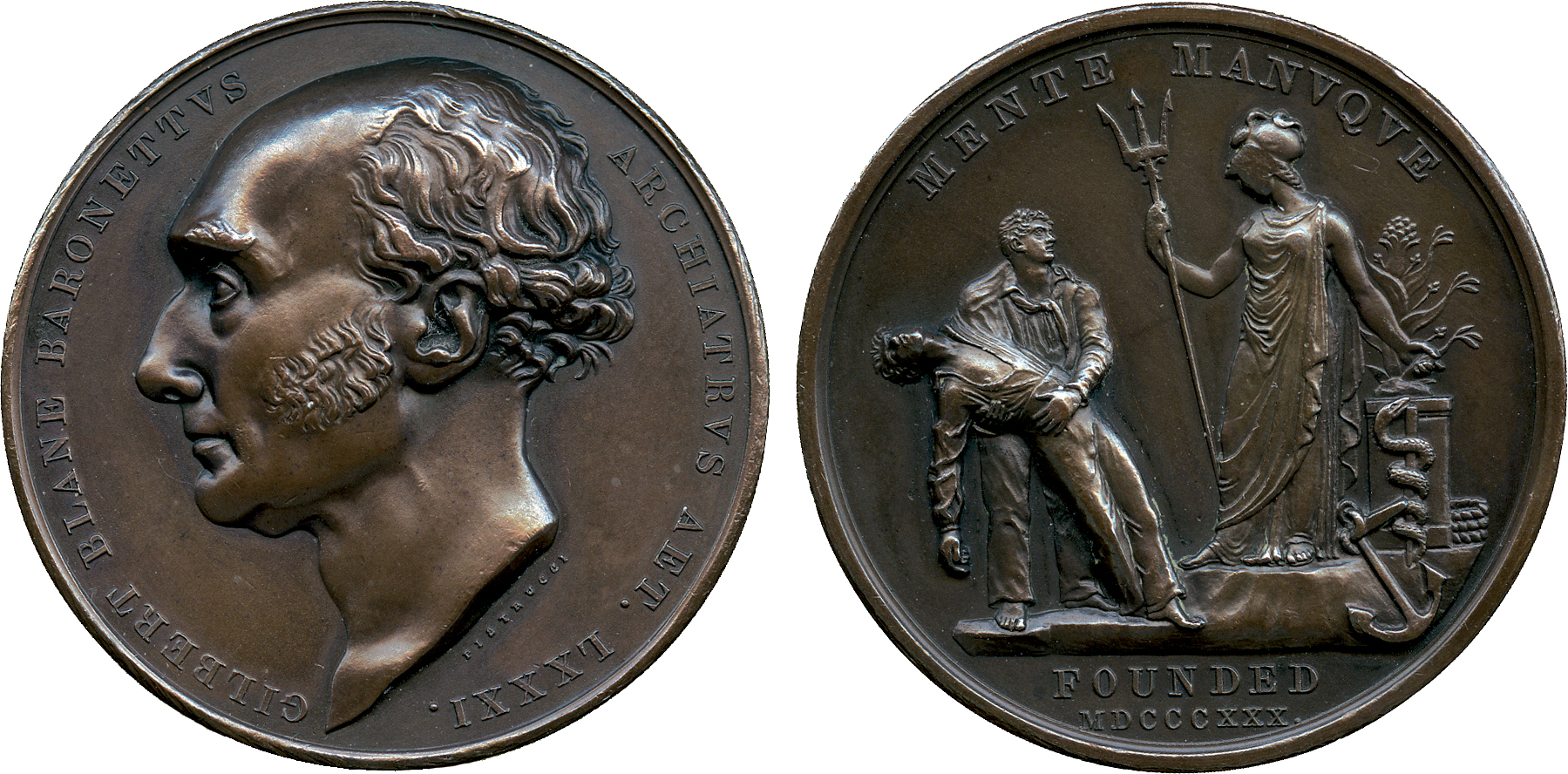 COMMEMORATIVE MEDALS, BRITISH MEDALS, Medals by Benetto Pistrucci (1783-1855), Sir Gilbert Blane (