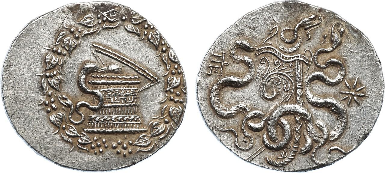 Lot 146 - ANCIENT COINS, GREEK COINS, Mysia, Pergamon (c.166-67 BC), Silver Tetradrachm, 12.6g. Cistophoric