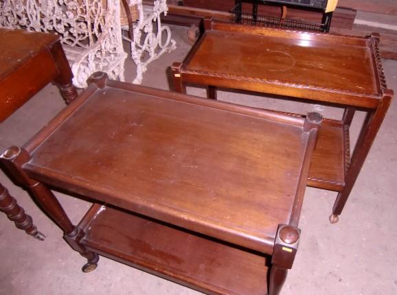 Lot 13 - Two modern mahogany Tea Trolley's. (2)