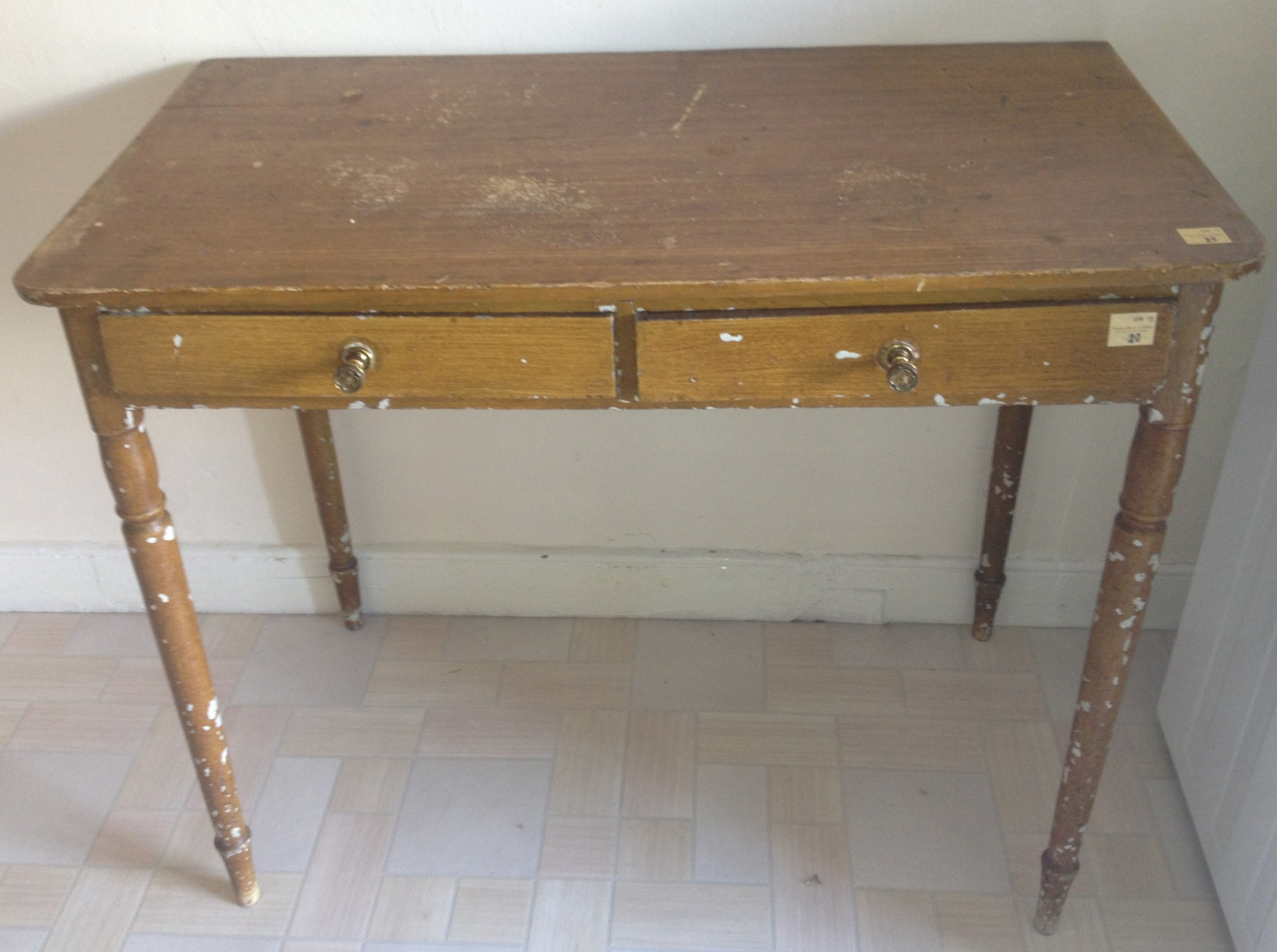 Lot 20 - An antique rectangular Side Table, with two frieze drawers. (1)