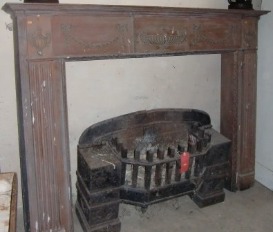 Lot 26 - A large pine framed Adams style Fire Surround. (1) N.B. Possibly Hicks of Dublin