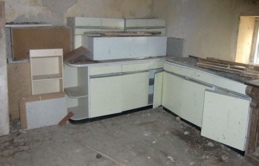Lot 33 - A large quantity of formica and stainless steel Kitchen Presses. (a lot)