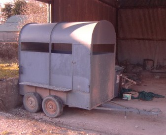 Lot 39 - A Car Trailer / Donkey Box, with double axle. (1)