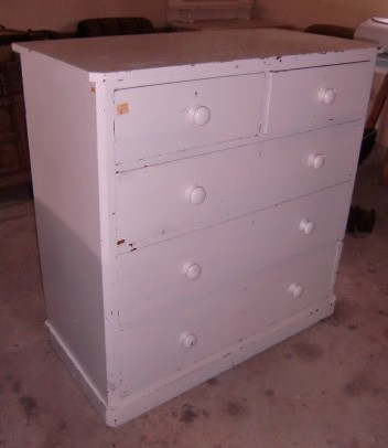 Lot 5 - A good painted solid pine chest of Drawers. (1)