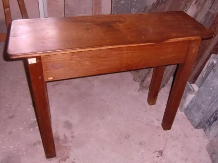 Lot 6 - A heavy oak rectangular Side Table, of narrow proportions. (1)