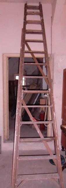 Lot 7 - A large wooden Step Ladder. (1)