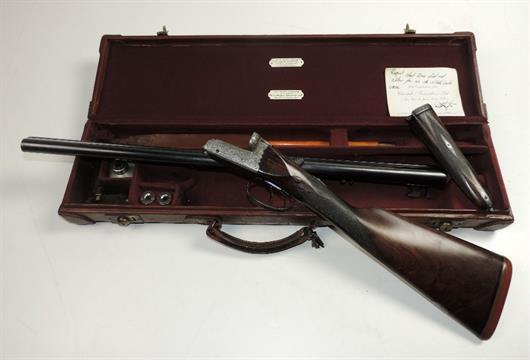 A good 12 bore boxlock ejector double barrel Shotgun, by
